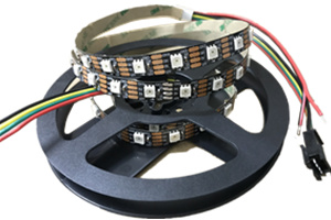 72LEDs 5m WS2815 Digital LED Lighting Strip 10mm Black PCB