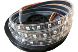 Two data cable WS2815 RGB 12v LED Strips Waterproof IP67 Silicon Tube