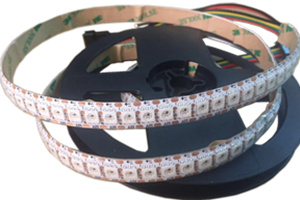 WS2815 Addressable RGB LED Strip Light 144 LEDs 5M White PCB